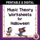 MUSIC Halloween Worksheets