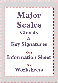 MUSIC: Major Scales - worksheets