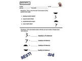 MUSIC RESTS WORKSHEET PAGE FOR ASSESSMENT! Great For Subst