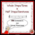 MUSIC: Tones and Semitones Worksheets