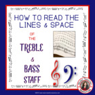 MUSIC: Treble and Bass Lines and Spaces