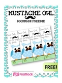 MUSTACHE MOUSTACHE OWL Bookmark FREEBIE
