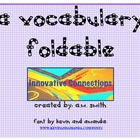 MY VOCABULARY FOLDABLE
