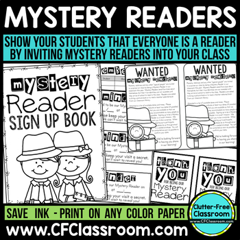 MYSTERY READER kit-letter, clue book, and more