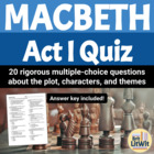 Macbeth Act I Quiz