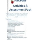 Macbeth CCSS Aligned Activity & Assessment Pack