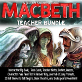 Macbeth: Notes, Task Cards, Flip Book, Quizzes, Prompts, P
