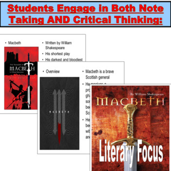 Macbeth, Teaching Lessons PPT