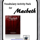 Macbeth Vocabulary Activity Pack and Quizzes