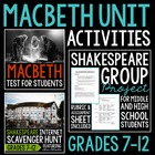 Macbeth and Shakespeare Unit