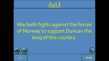 Macbeth by Shakespeare Jeopardy PowerPoint Game