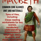 Macbeth unit plan w/ handouts, quizzes, projects and more!