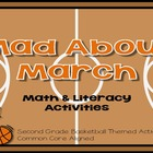 Mad About March {Literacy & Math Activities} Basketball Th