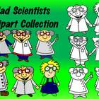 Mad Scientists Clipart Collection-Fun! Commercial Use