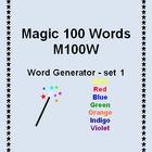 Magic 100 Word -M100W- First - 1st - Interactive Word Generator