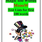 Magic 100 Words -M100W- Practice Test Sheets