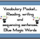 Magic 100 words BLUE  Packet Flashcards, centre activities