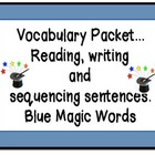 Magic 100 words BLUE set Packet Flashcards and centre activities