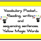 Magic 100 words GOLD Packet Flashcards, centre activities