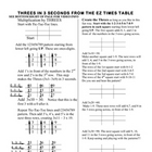 Magic Multiplication: Threes &amp; Sevens with tic-tac-toe EZ 