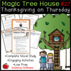 Magic Tree House #27- Thanksgiving on Thursday Novel Study