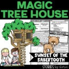 Magic Tree House #7 Sunset of the Sabertooth Book Questions