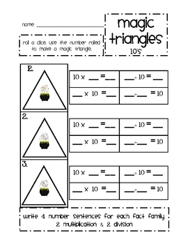 Magic Triangles: 10 (times tables)
