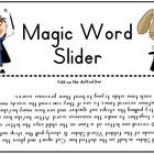 Magic Word Slider