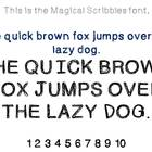 Magical Scribbles Font