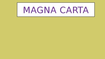 Magna Carta Power Point