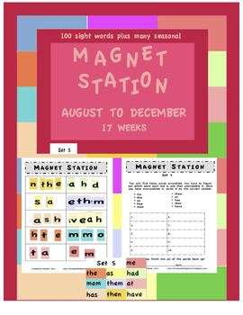 Magnet Station / Center August to December pack