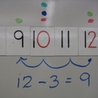 Magnetic Number Line Sets with Odd and Even in different colours
