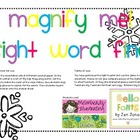 Magnify Me! Snowflake sight words