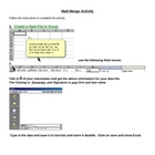 Mail Merge MS Word Activity