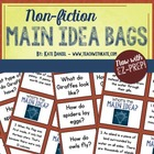 Main Idea Bags: Non-Fiction {Lesson/Literacy Center for Ma