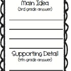 Main Idea Bookmark - black
