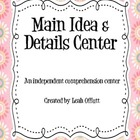 Main Idea Comprehension Center