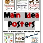 Main Idea Posters (Includes 15 Different Ready-To-Print Posters)