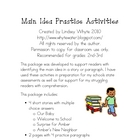 Main Idea Practice Activities