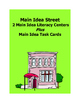 Main Idea Street Literacy Center & Task Cards