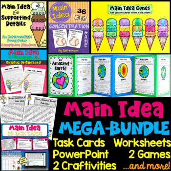 Main Idea & Support. Details BUNDLE: Craftivities, PPT, Worksheets, Games, more!