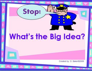 Main Idea - What's the Big Idea Power Point Presentation