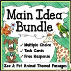Main Idea Worksheets Bundle (Zoo & Pet Animal Themed)