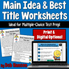 Main Idea and Best Title Worksheets- Dr. Seuss (test prep)