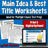Main Idea and Best Title Worksheets- Read, America, READ!