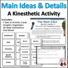 Main Idea and Details Kinesthetic Learning Activity (Common Core)