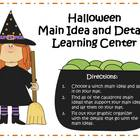 Main Idea and Details Learning Center - Halloween Theme