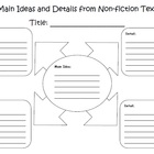 Main Ideas and Details from Non-fiction Text  *Common Core*