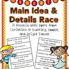Main Ideas and Supporting Details Race Freebie!