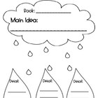 Main (Key) Idea and Details Worksheet - Cloud and Raindrop